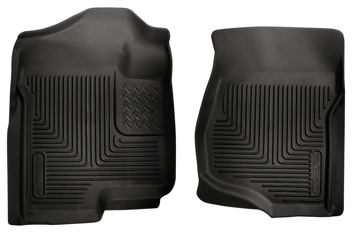 2007-2012 GM Silverado/Tahoe/Suburban/Escalade X-Act Contour Black Floor Liners by Husky Liners (53101) - Modern Automotive Performance