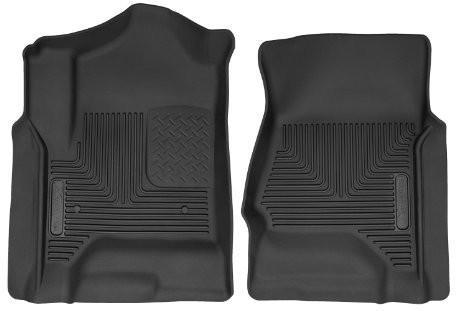2014 Chevrolet Silverado 1500 / GMC Sierra 1500 X-Act Contour Black Front Floor Liners by Husky Liners (53111) - Modern Automotive Performance