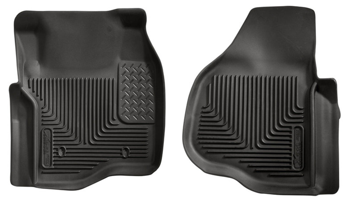 2011-2012 Ford F250/F350/F450 Series Reg/Super/Crew Cab X-Act Contour Black Floor Liners by Husky Liners (53301) - Modern Automotive Performance