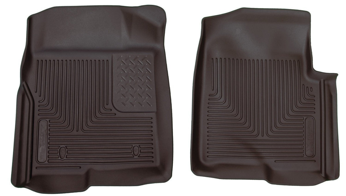2009-2012 Ford F-150 Series Reg/Super/Crew Cab X-Act Contour Black Floor Liners by Husky Liners (53311) - Modern Automotive Performance