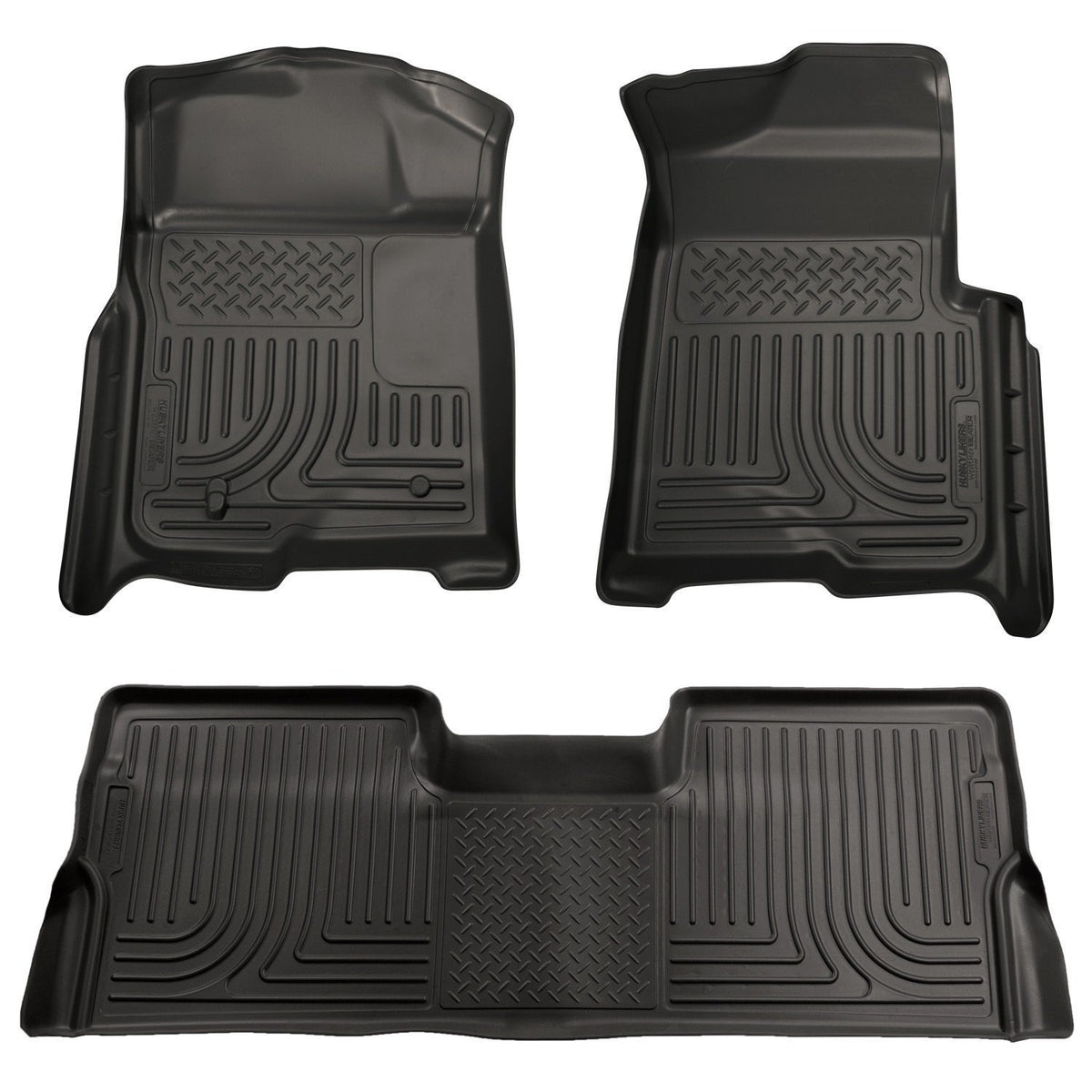2009-2012 Ford F-150 Super Crew Cab WeatherBeater Combo Black Floor Liners by Husky Liners (98331) - Modern Automotive Performance
