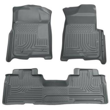 2009-2012 Ford F-150 Super Cab WeatherBeater Combo Grey Floor Liners by Husky Liners (98342) - Modern Automotive Performance