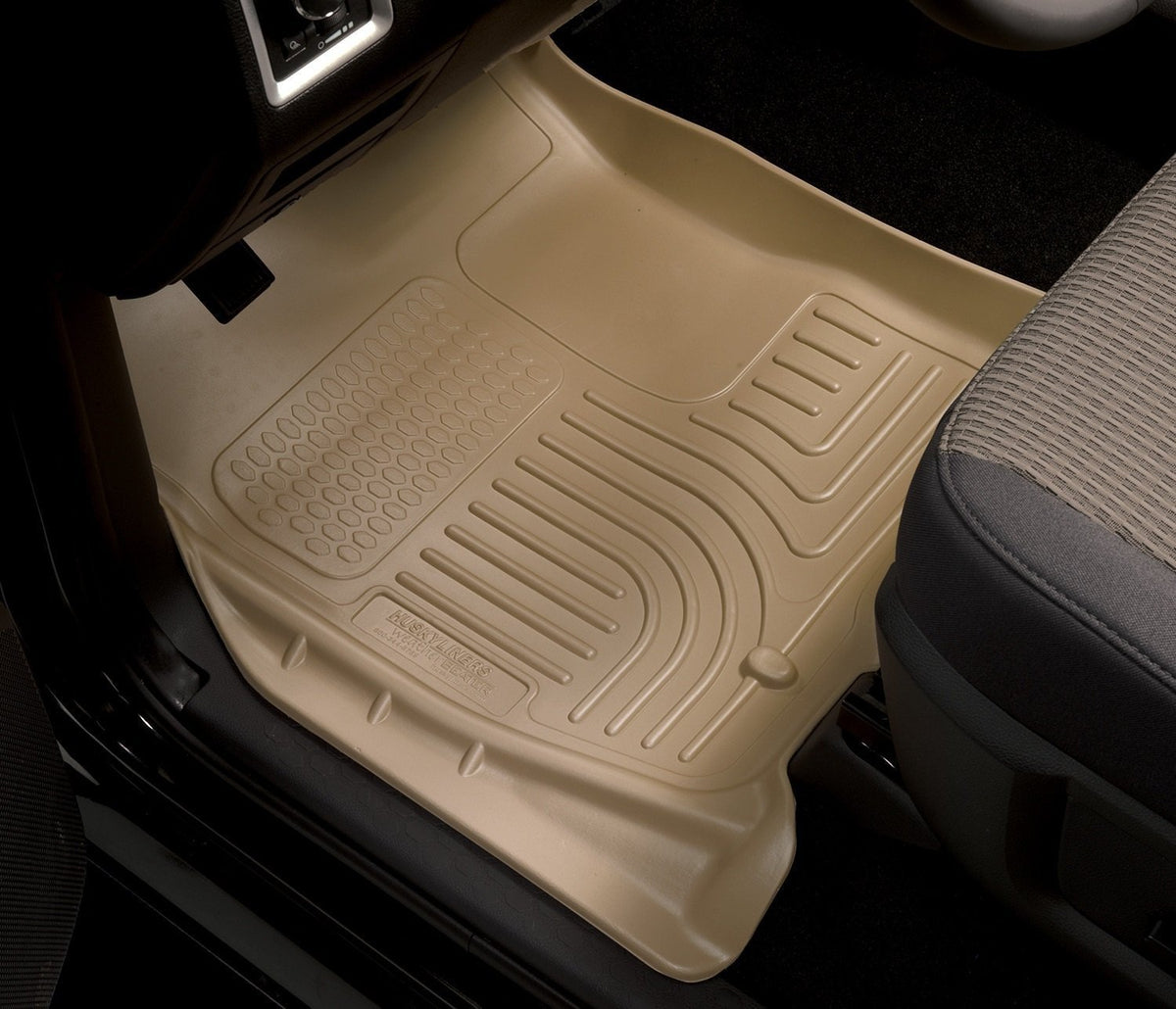 2008-2010 Ford SD Crew Cab WeatherBeater Combo Gray Floor Liners (w/o Manual Trans Case) by Husky Liners (98382) - Modern Automotive Performance