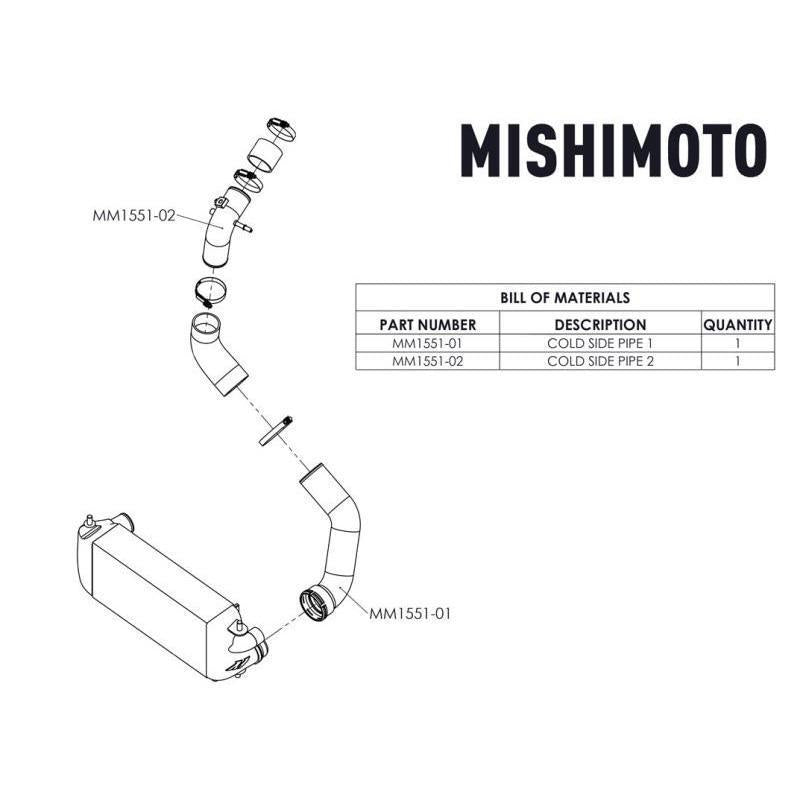 Mishimoto Cold-Side Intercooler Pipe Kit | 2017-2019 Ford F150 EcoBoost 3.5L (MMICP-F35T-17C)