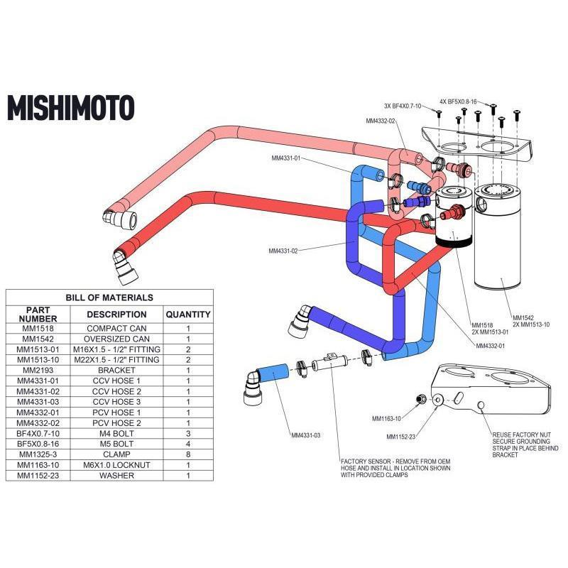 Mishimoto Baffled Oil Catch Can Kit | 2015-2016 Ford F-150 EcoBoost 3.5L (MMBCC-F35T-15SBE)