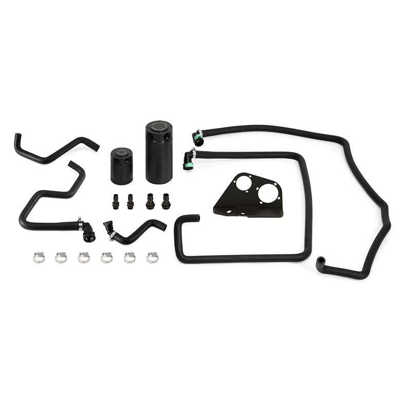 Mishimoto Baffled Dual Oil Catch Can Kit | 2017-2020 F-150 3.5L EcoBoost / Raptor (MMBCC-F35T-17SBE)