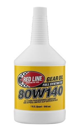 80W140 Gear Oil Synthetic GL-5 Differential Gear Oil 1 Quart Red Line Oil-thumbnail