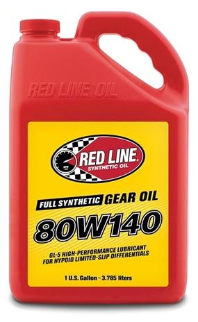 80W140 Gear Oil Synthetic GL-5 Differential Gear Oil 1 Gallon Red Line Oil-thumbnail