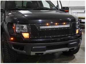 10-14 F-150 Raptor LED Grille by Rigid Industries (41572) - Modern Automotive Performance  - 2-thumbnail