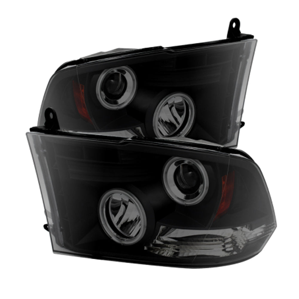 Spyder Auto Black Smoke LED Projector Headlights | 2009-2018 Dodge Ram 1500 (5078810)