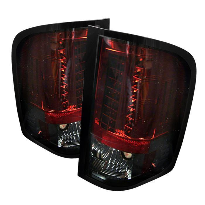 Spyder Auto  Chevy Silverado 07-13 ( Does Not Fit Model With  Reverse Bulb 921 ) LED Tail Lights - Red Smoke - Modern Automotive Performance
