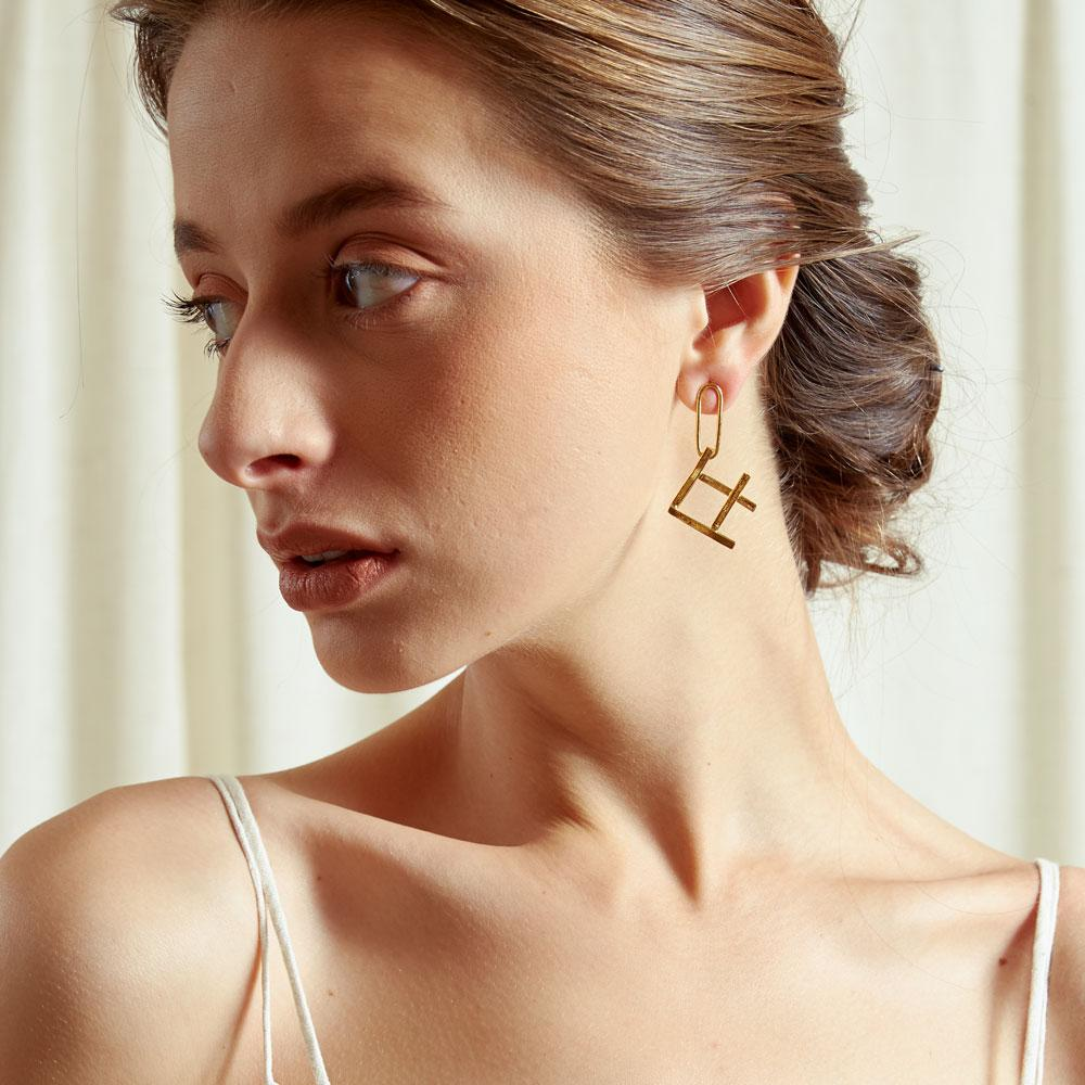 TAKTAI Earring 14k Gold Fish Earrings