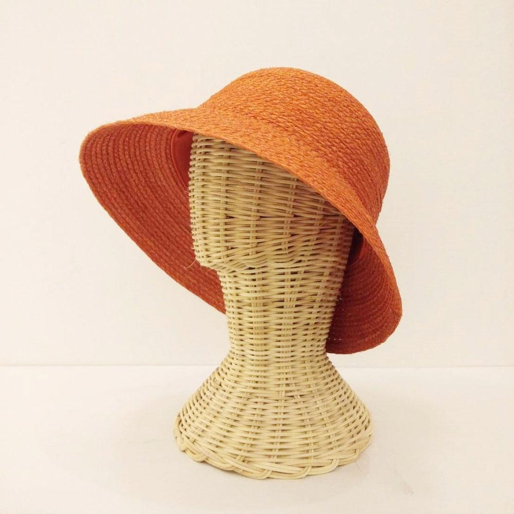 TAKTAI Hat Orange Natural Sisal Cloche Hat