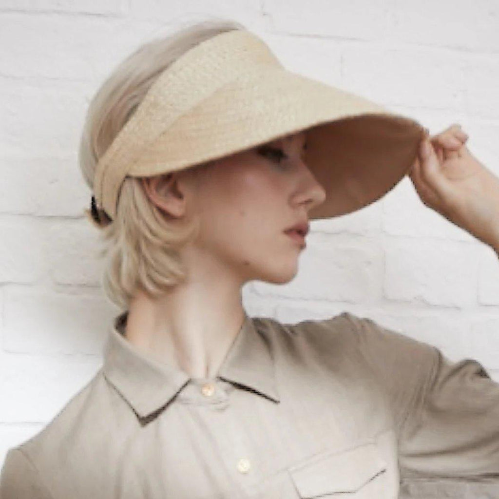 TAKTAI Hat Visor Natural Sisal Hat