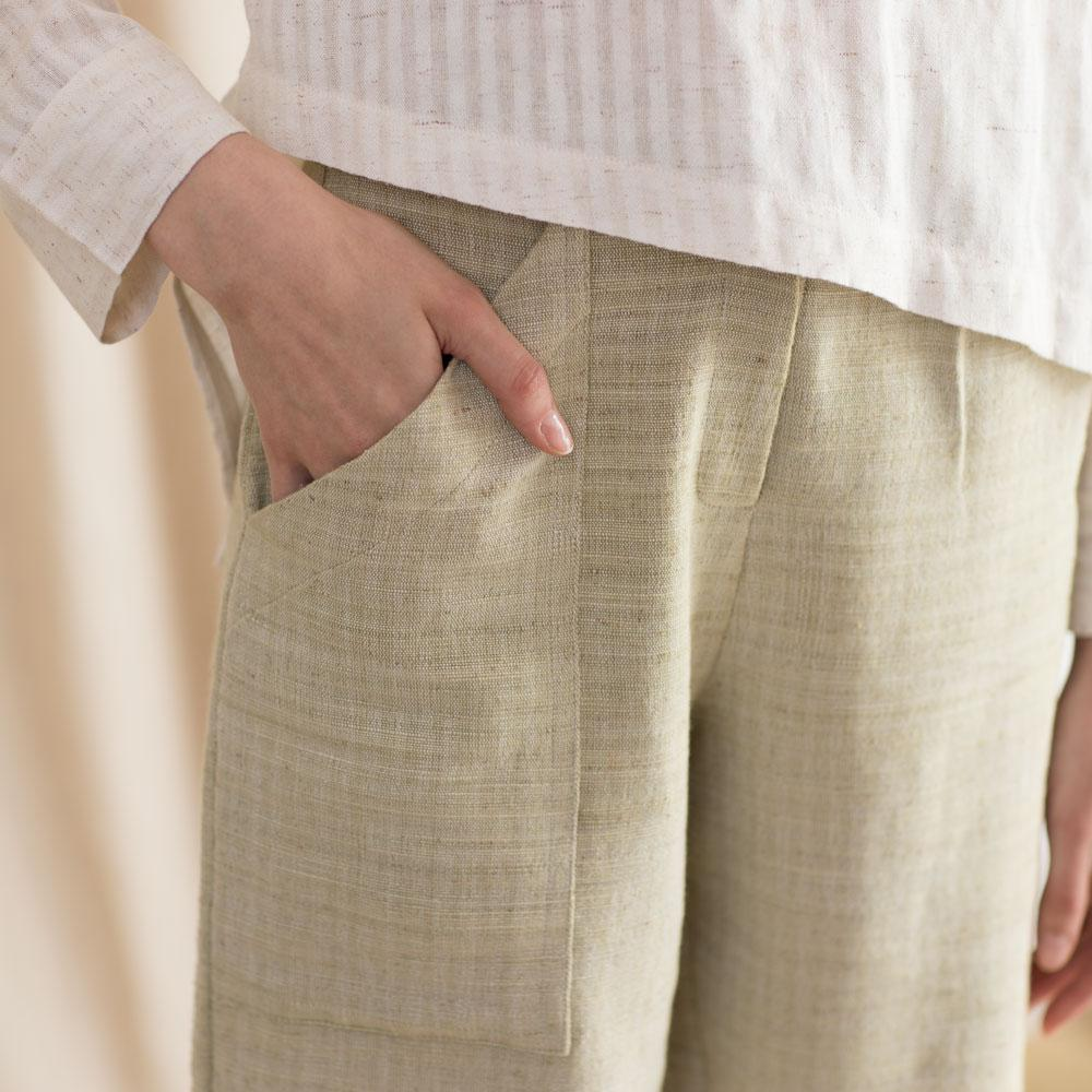TAKTAI Pants Let's Relax Buttoned Pants