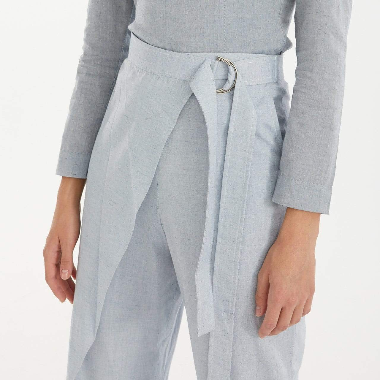 TAKTAI Pants S / Pale Blue Semi-Wraped Pants
