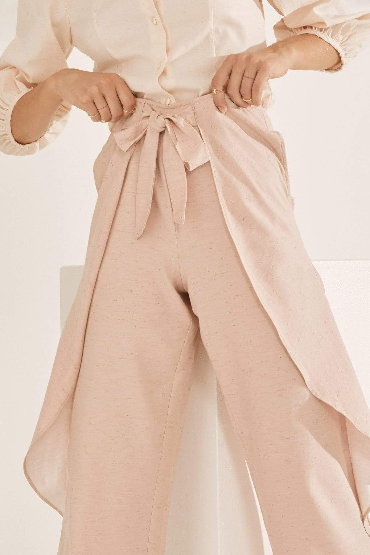 TAKTAI Pants S / Pink Sea Wind Wrap Pants