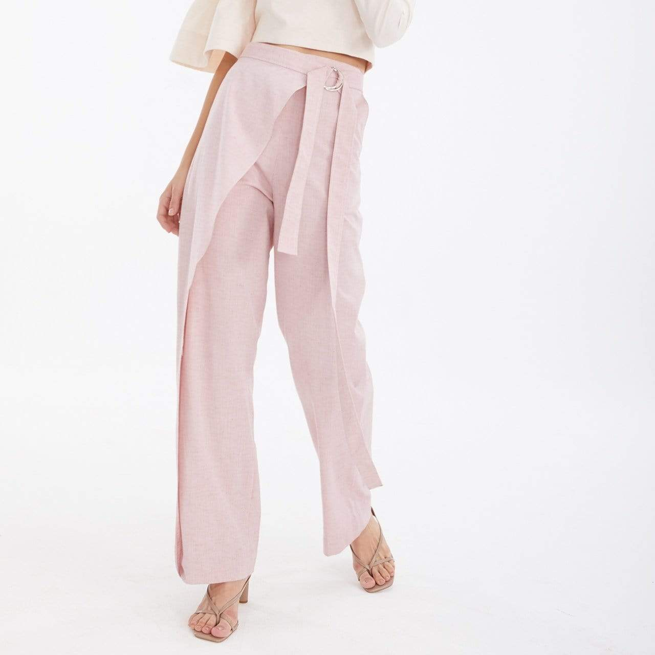 TAKTAI Pants Semi-Wraped Pants