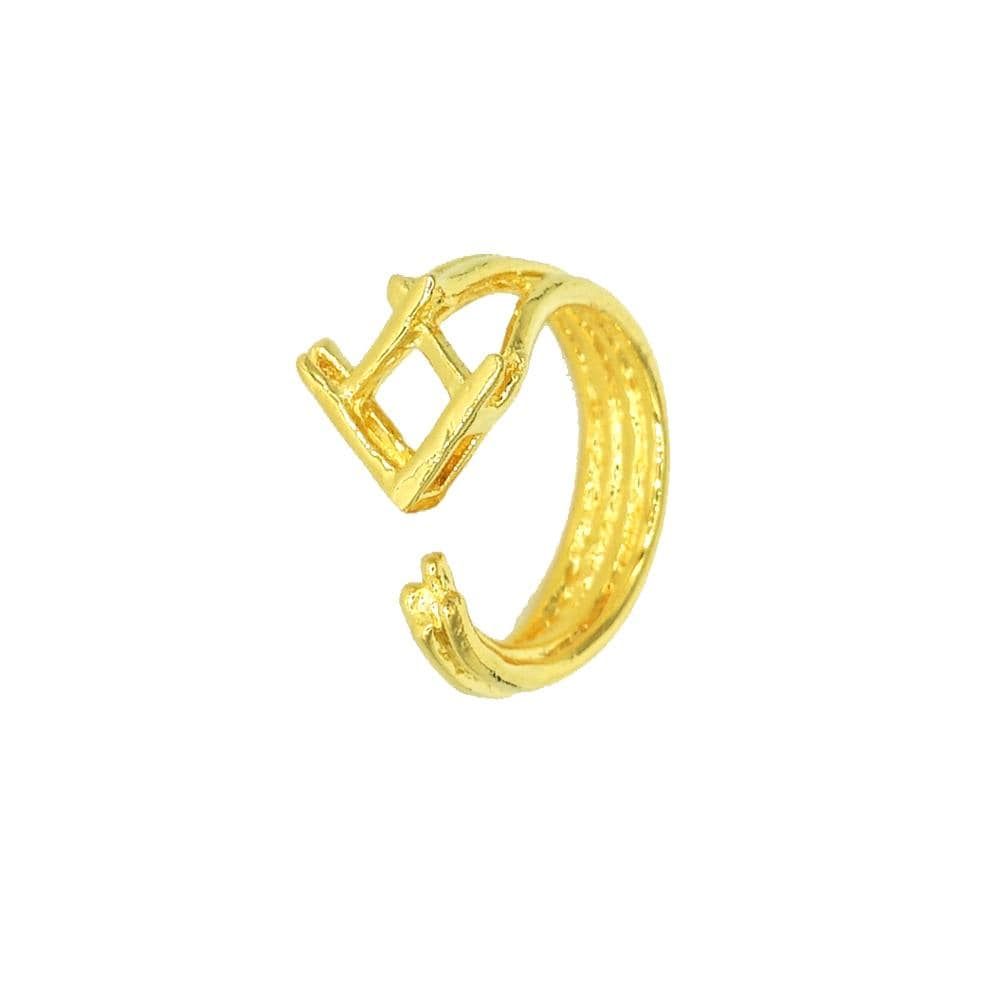 TAKTAI Ring Big (F54) 14k Gold Fish Ring
