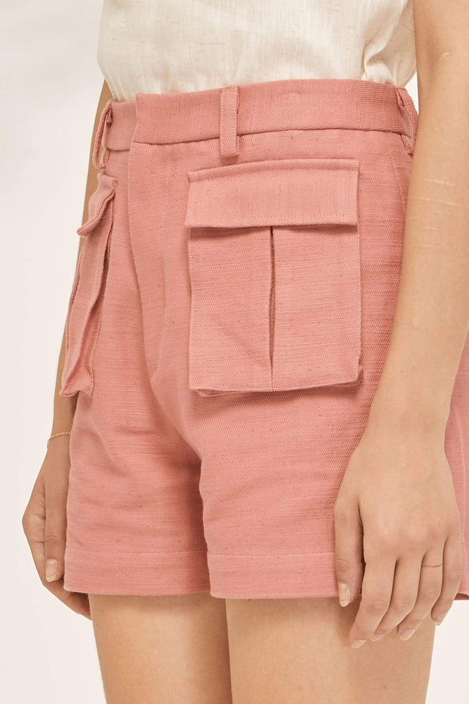 TAKTAI Shorts S / Pink Double Pocket Shorts