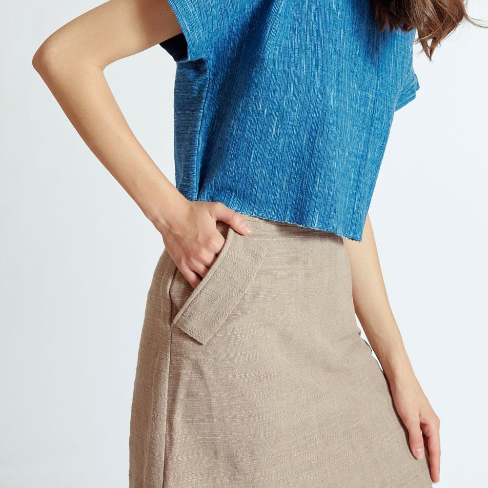 TAKTAI Skirt Burrow One Pocket Short Skirt