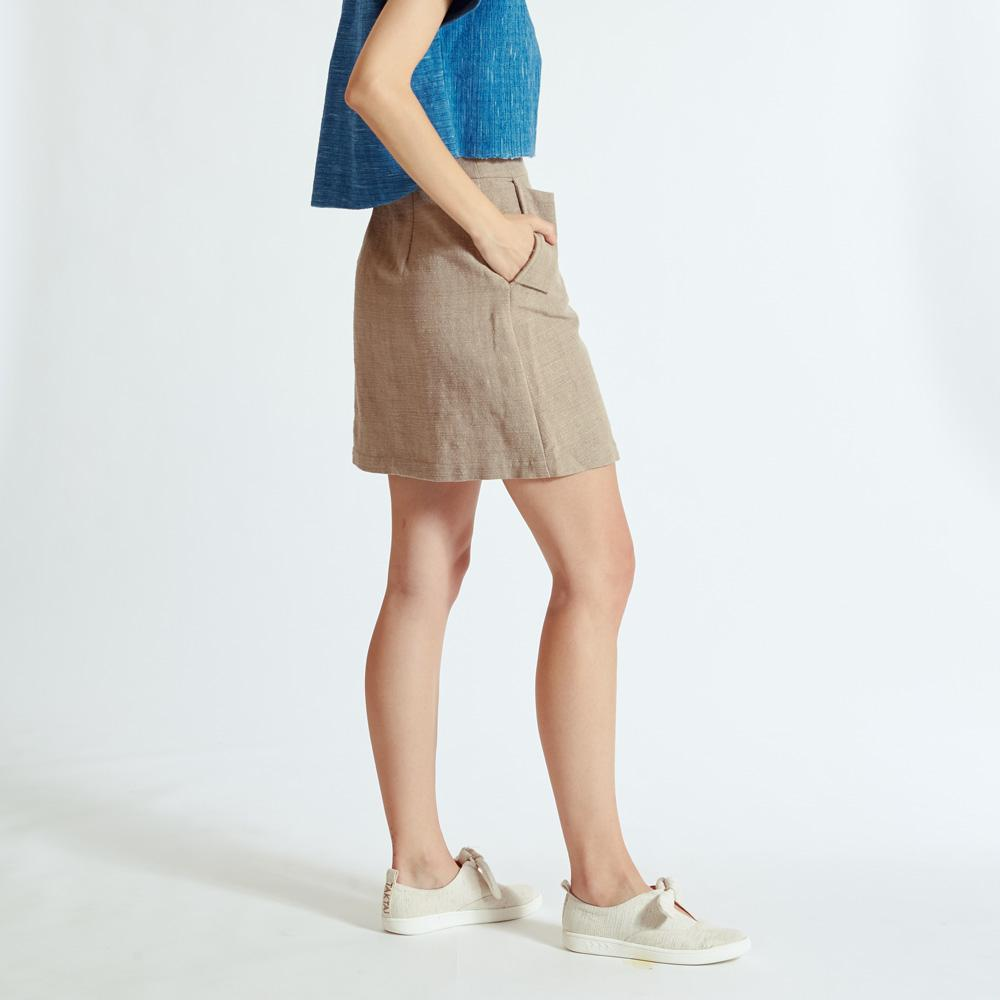 TAKTAI Skirt S / Brown Burrow One Pocket Short Skirt