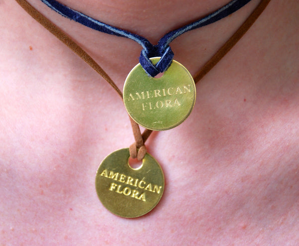 Brass Tag Necklace