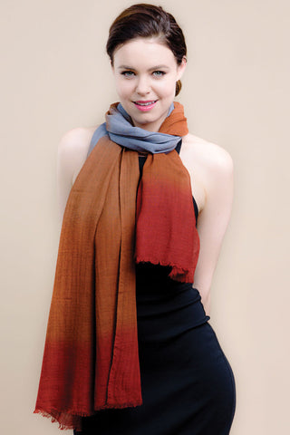 Deepa merino wool scarf ethically handwoven in India