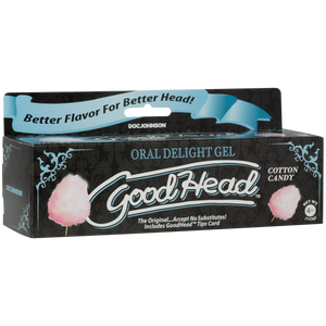 Goodhead Oral Delight Gel Cotton Candy Tube 4oz - Sexy Nights Deals