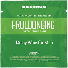 Load image into Gallery viewer, Prolonging With Ginseng - Delay Wipes for Men - Sexy Nights Deals