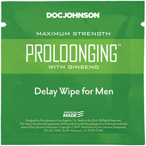 Prolonging With Ginseng - Delay Wipes for Men - Sexy Nights Deals