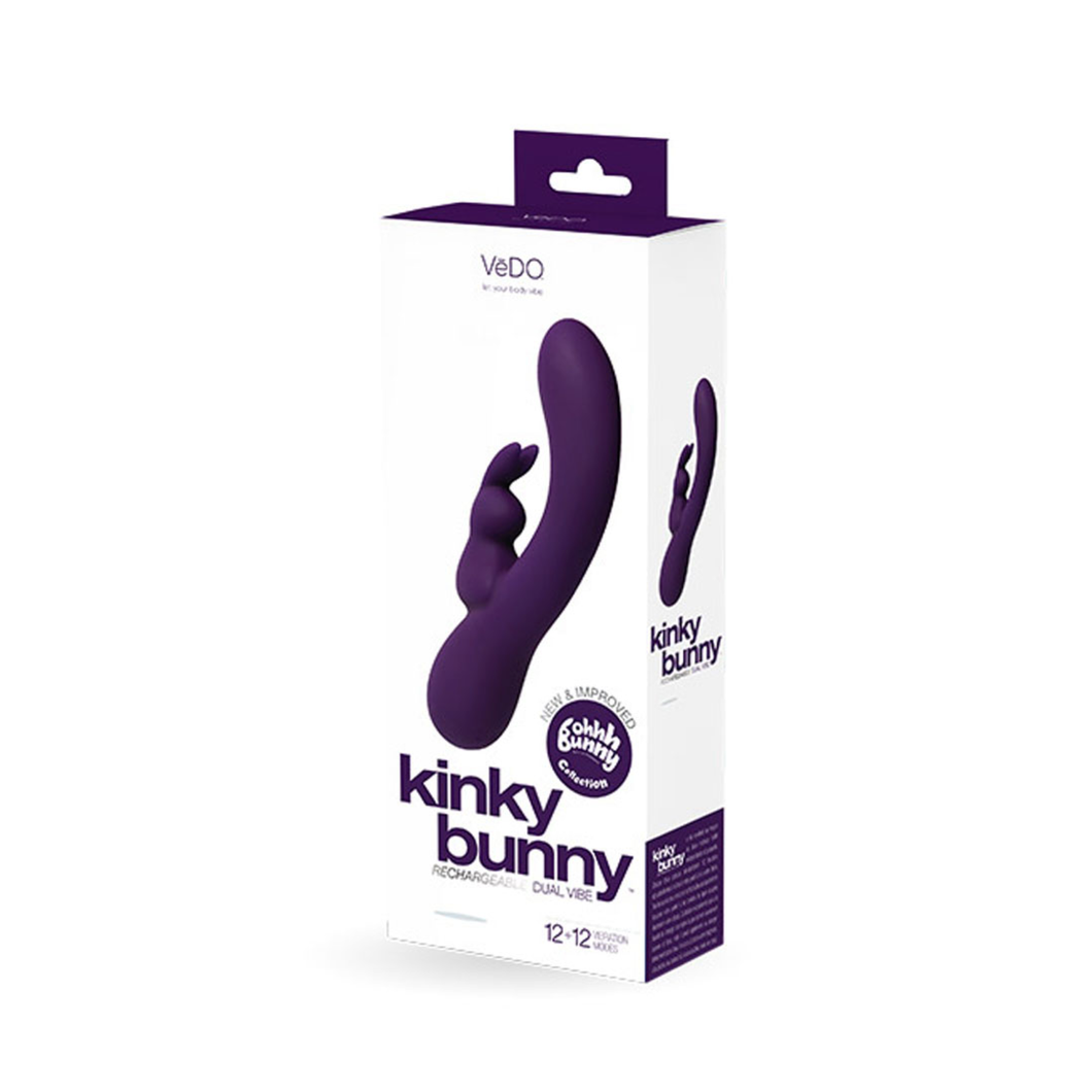 Kinky Bunny Rechargeable Rabbit - Purple - Sexy Nights Deals