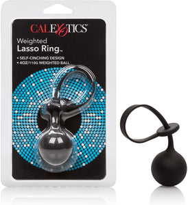 Weighted Lasso Ring Black - Sexy Nights Deals