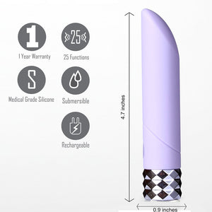 Angel Crystal Gem Supercharged Bullet Vibrator Purple - Sexy Nights Deals