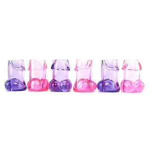 Bachelorette Party Pecker Shot Glasses - 6 Pieces - Assorted Colors - Sexy Nights Deals