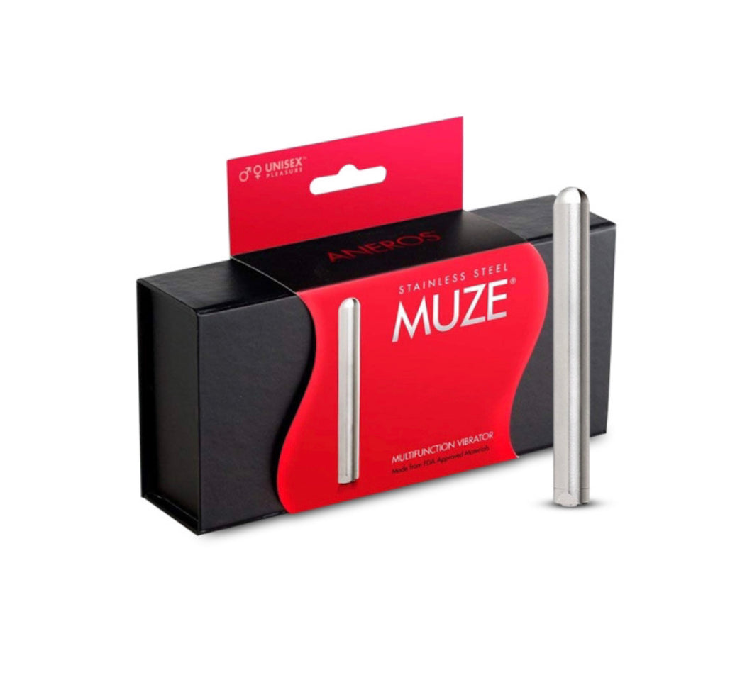 Muze Stainless Steel Multi Function Bullet Vibrator - Sexy Nights Deals