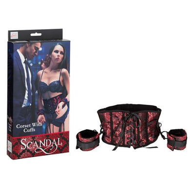 Scandal Corset With Cuffs One Size - Sexy Nights Deals