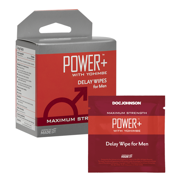 Power + Delay Wipes With Yohimbe 10 Pack - Sexy Nights Deals