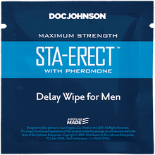 Load image into Gallery viewer, Sta-Erect Delay Wipes with Pheromone 10 Pack - Sexy Nights Deals
