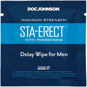 Sta-Erect Delay Wipes with Pheromone 10 Pack - Sexy Nights Deals