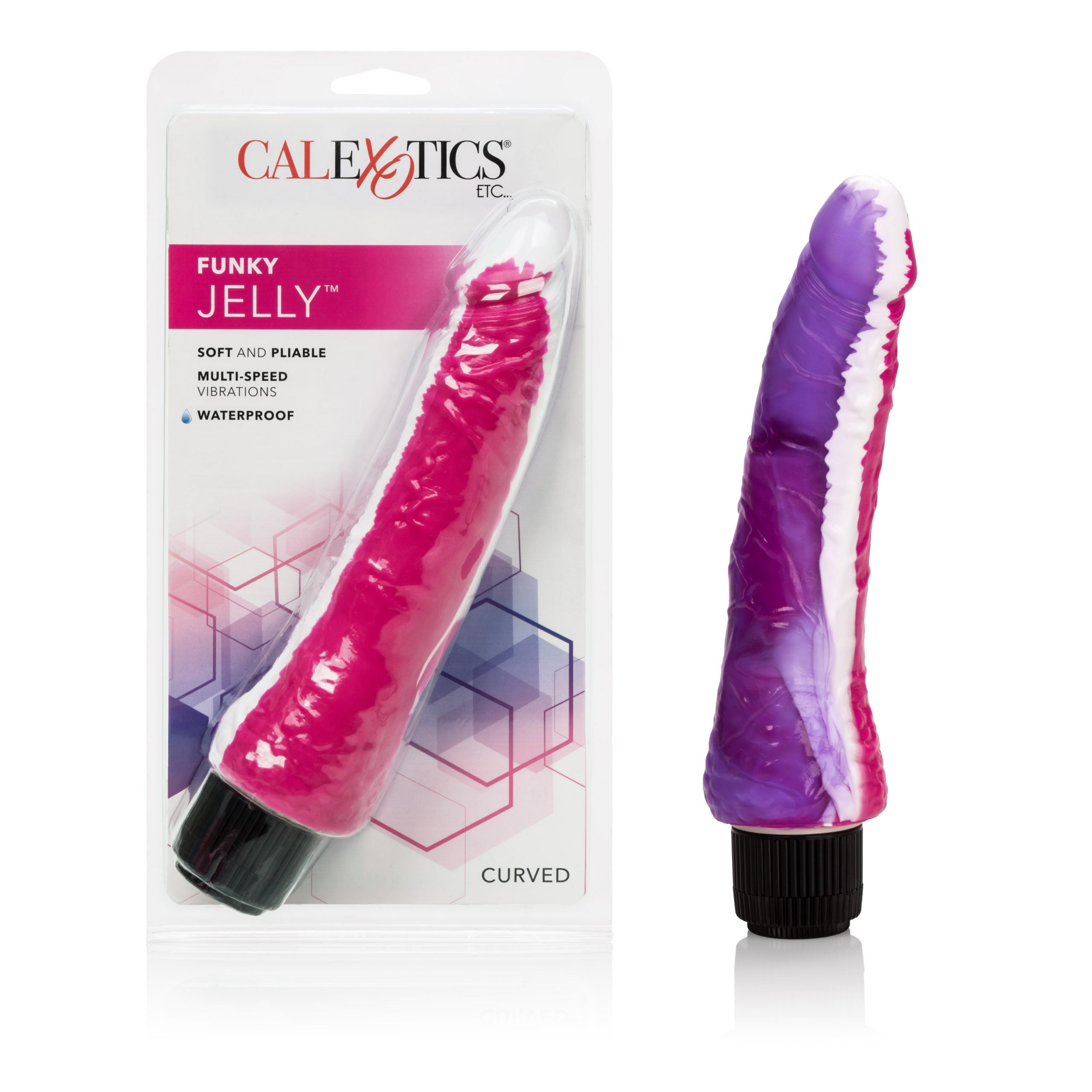 Funky Jelly Vibe 7.5 Inches - Pink/purple - Sexy Nights Deals