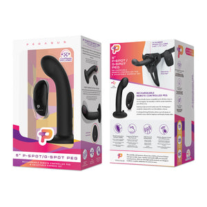 Pegasus 6 Inch P-Spot / G-Spot Peg - Black - Sexy Nights Deals