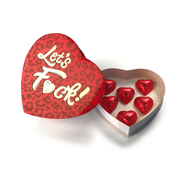 Let's Fuck - Chocolate Heart Box - Sexy Nights Deals