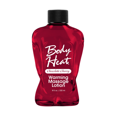 Body Heat Warming Massage Lotion - 8 Fl. Oz. - Chocolate Cherry - Sexy Nights Deals