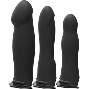 Body Extensions - Hollow Strap-on 4-Piece Set - Black - Sexy Nights Deals