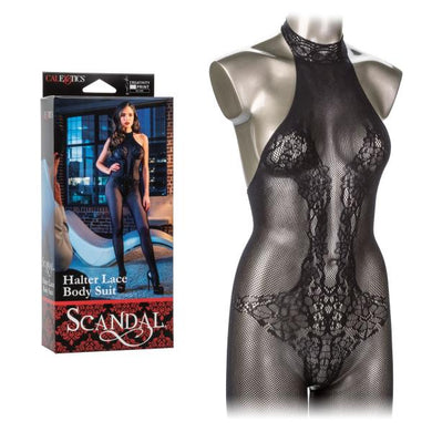Scandal Strappy Halter Lace Body Suit - Sexy Nights Deals