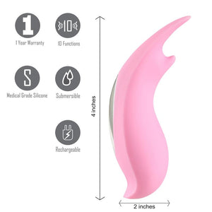 Sera USB Clitoral Lay-On Vibrator Pink - Sexy Nights Deals