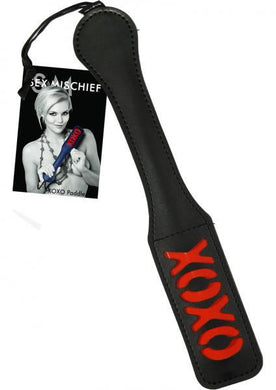 Sex And Mischief XOXO Paddle Black 12 Inches - Sexy Nights Deals