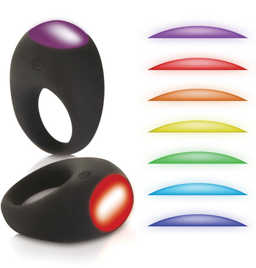 Rechargeable Mood Lighting Ring Black - Sexy Nights Deals