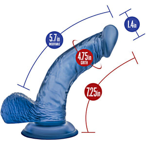 Glow Dicks Light Show Blue Dildo - Sexy Nights Deals